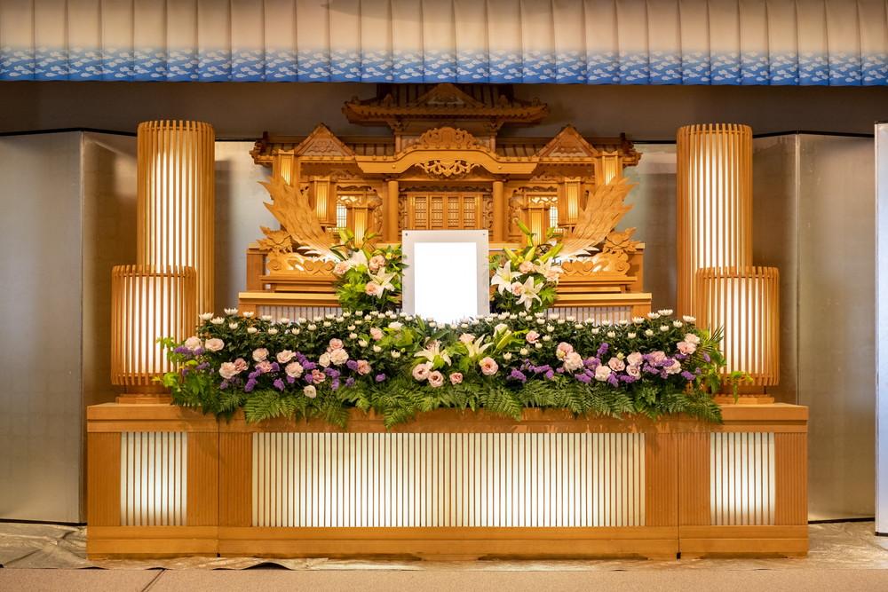 石巻葬儀社/石葬会館の別館白木祭壇